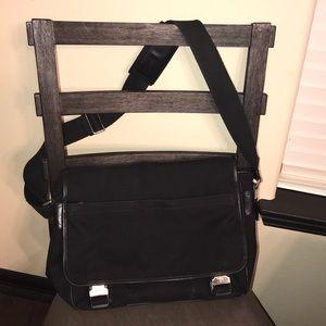 Authentic Coach messenger black courier bag